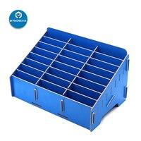 24 grade de madeira desktop caixa de armazenamento de gerenciamento do telefone móvel caixa de armazenamento criativo desktop escritório reunião acabamento grade organizador|Conjuntos ferramenta manual| |  -