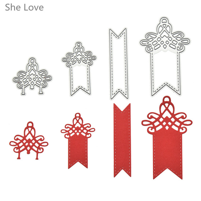 She Love Pcs Label Hangtag Template Metal Cutting Dies Embossing