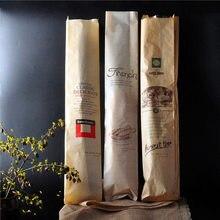 30 pièces sac à pain 57x10x4cm kraft papier emballage alimentaire boulangerie cuisson Baguette papier sacs à pain avec fenêtre fournisseur personnalisé