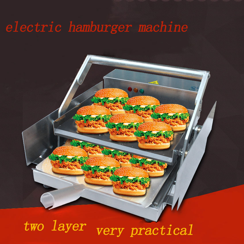 1PC innovative product electric hamburger machine /commercial hamburger Maker/ board bun toaster for sale