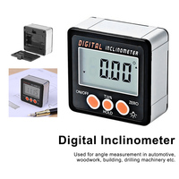 Electronic Protractor Digital Inclinometer 0-360 Aluminum Alloy Digital Bevel Box Angle Gauge Meter Magnets Base Measuring Tool [category]