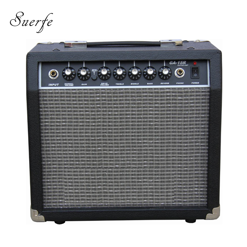 SUERTE High Quality 15 Watt Guitar Amplifier Headphone Jack 6.5- 4ohm Speaker Guitar Amplificador Transistor Guitar Accessories 10x 5w watt 2r2 2 2 ohm 5