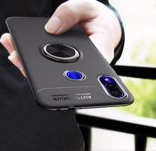 Silicone Case For Xiaomi Redmi Note 7 Case Armor Finger Ring Holder Soft Bumper Back Cover For Xiaomi Redmi 7 Pro Phone Cases