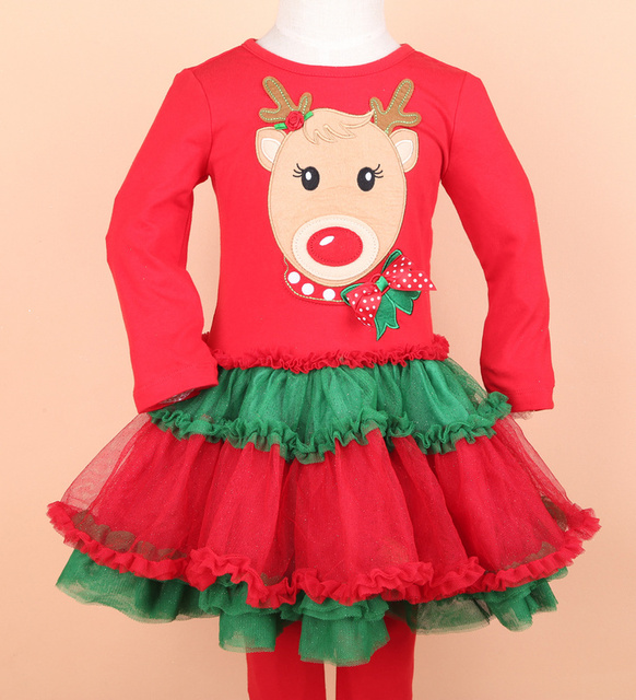 2016 Christmas Clothes 1-5 Girls Rare editions Snowman Super Nice Dress&  red pants Christmas Celebrating Set - 2016 Christmas Clothes 1 5 Girls Rare Editions Snowman Super Nice