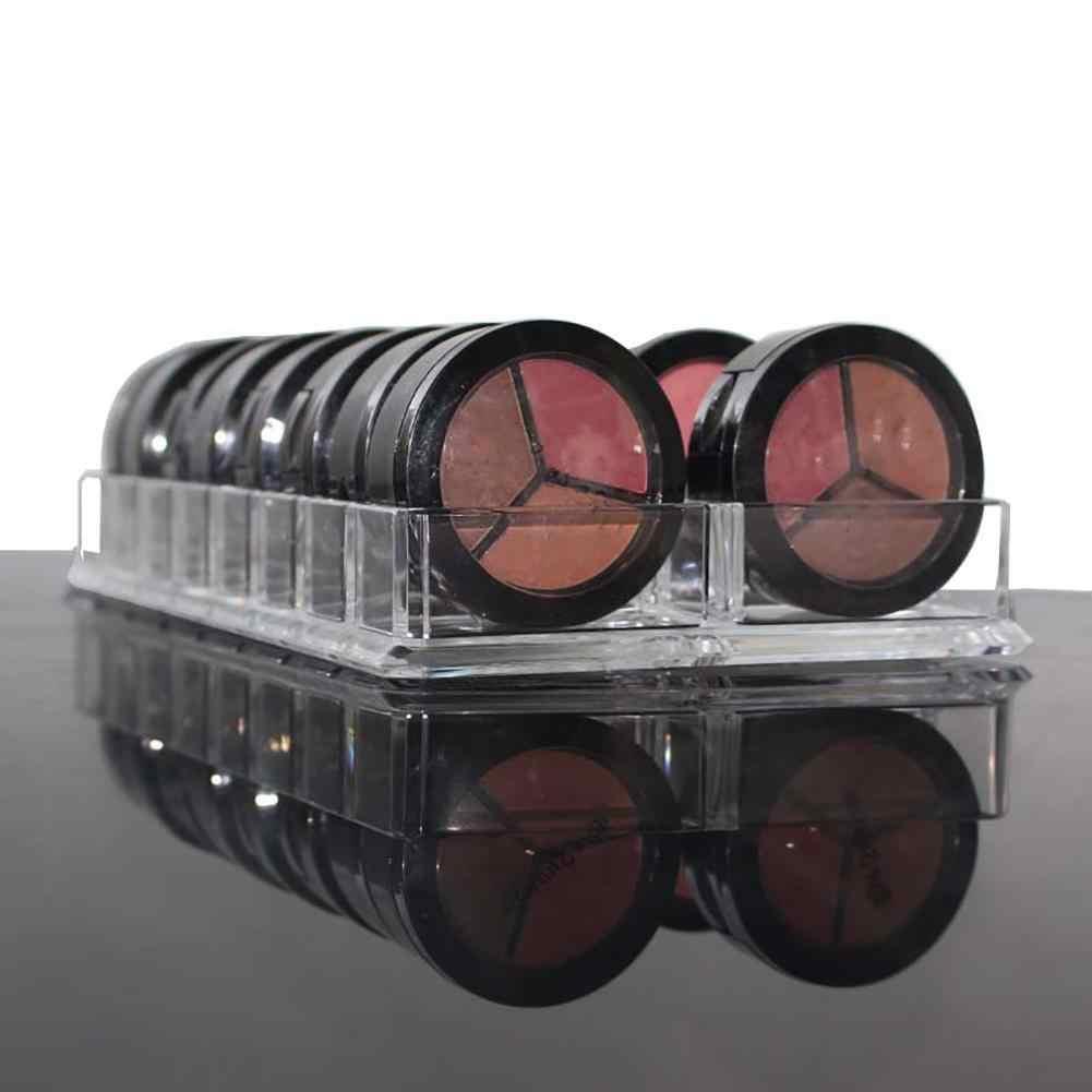 Acrylic Eyeshadow Blusher Makeup Organizer 16 Space Cosmetic Storage Case Holder Makeup Tool