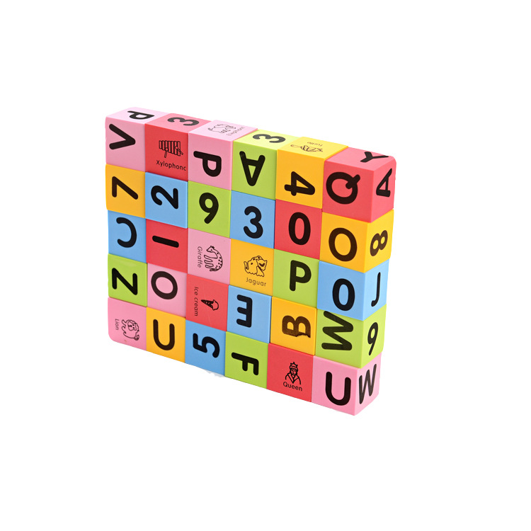 Home 100pcs Alphabet Block 26 English Painted Wooden Letters Bakelite Alphabet Drilled Button Children Educational Learning Toys Buy One Get One Free