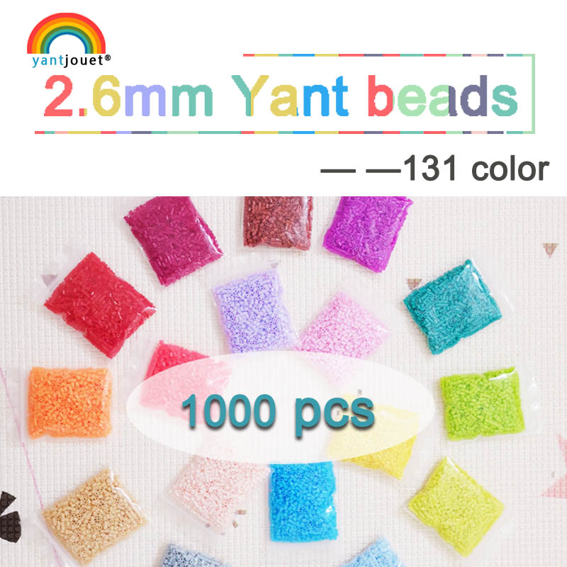 225colours 2.6mm YANTJOUET 1000pcs Perler Beads Iron Beads for kids Hama Beads Fuse Beads Diy Puzzles Mini Beads quality Gift-in Puzzles from Toys & Hobbies