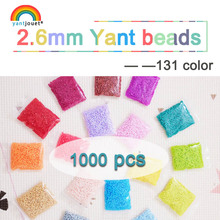 225colours 2.6mm YANTJOUET 1000pcs Perler Beads Iron for kids Hama Fuse Diy Puzzles Mini quality Gift