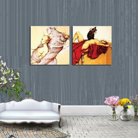2Panels Combination Canvashand Painting Modern Abstract Paint Art Decorative Wall Pictures Home Decor