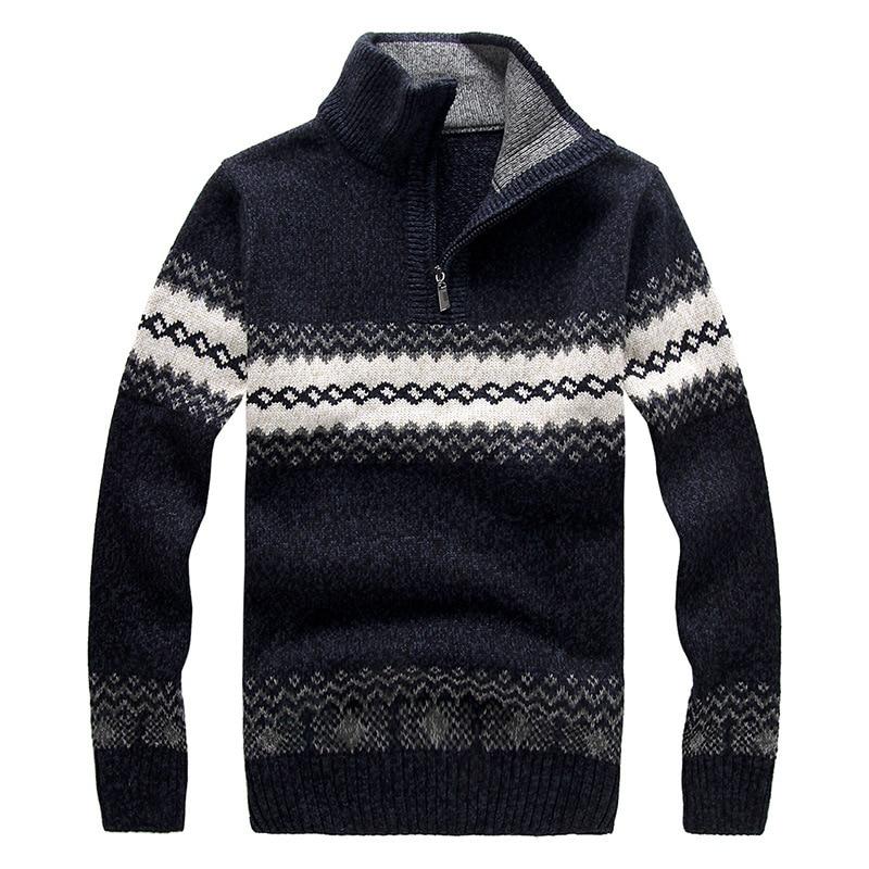 Qualité Chaud Taille Cavaliers Pull bleu Beige Haute Casual Plus gris Vente Hommes D'hiver Nouveau orange Chandail 2016 qPwt4t