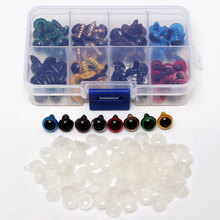 New DIY Chicest 80Pcs/40Pairs 8 Color-Mix 10mm Safety Eyes Box for Teddy Bear Stuffed Toy Snap Animal Puppet Doll Craft все цены