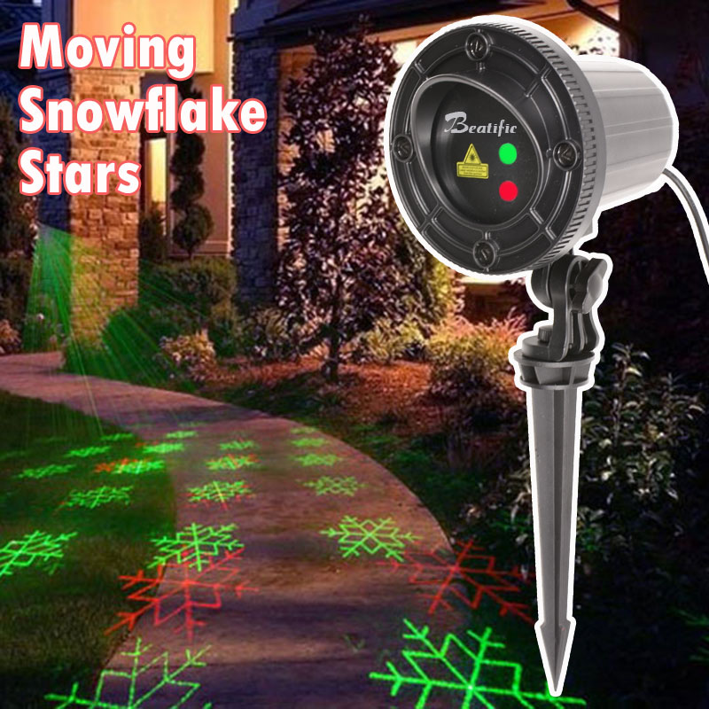 все цены на 110V 220V New Year Christmas lights Snowflake Star Laser Projector outdoor Decorations for Home Christmas Tree Fair Lights