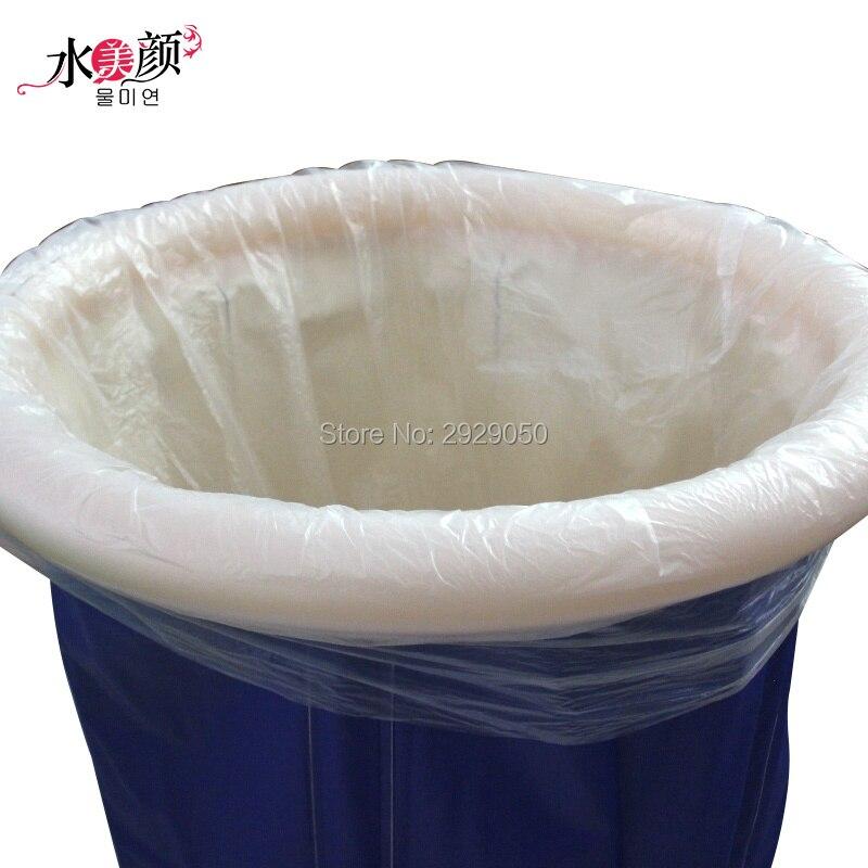 10PCS 120X130cm disposable plastic bath bag folding bath bucket special bath bag Portable bathtub special bath bag
