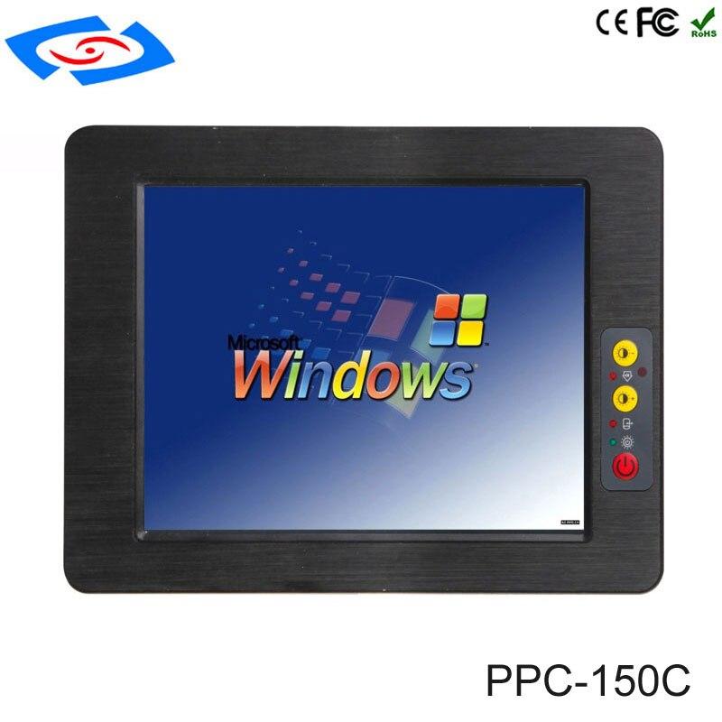 Завод магазин низкой цене 15 Сенсорный экран безвентиляторный промышленный встроенный Панель ПК с ЖК дисплей Сенсорный экран светодио дный