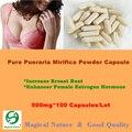 Puro Polvo de Pueraria Mirifica Mama Bust Enhancer Hormona Estrógeno Femenino 500 mg * 100 CÁPSULAS