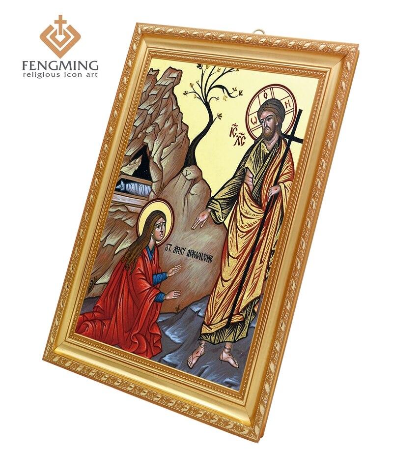 Us 59 Kunststoff Bilderrahmen Wahre Religiöse Symbol Saint Mary Magdalene Griechischen Orthodoxe Kirche Taufe Geschenke Wandaufkleber Steuern Dekor