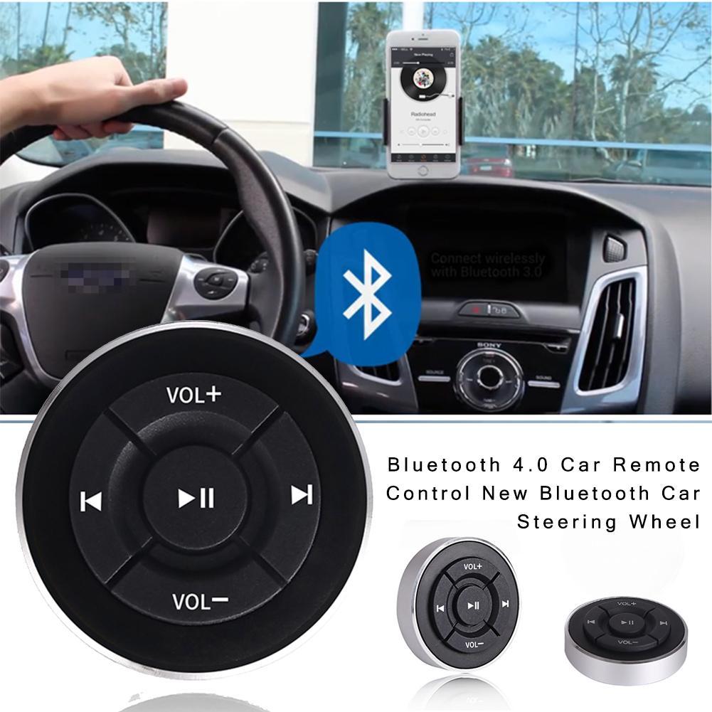 Controlo Remoto do Volante sem fio Bluetooth 4.0 Controlador de Mídia Mp3 Controle de Reprodução de Música Para Android IOS Smartphone