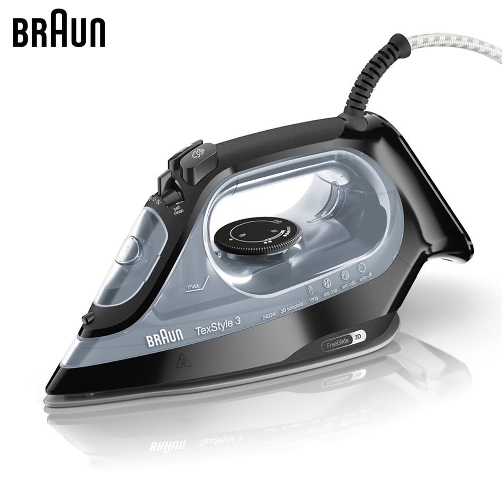 Electric Irons BRAUN SI3055BK steam iron steamer Laundry Appliances generator все цены