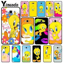 Yinuoda yellow lovely Tweety Bird Black Cell Phone Case For Samsung Galaxy j4plus j6plus j7 prime j8 j2 prime 2018funda(China)