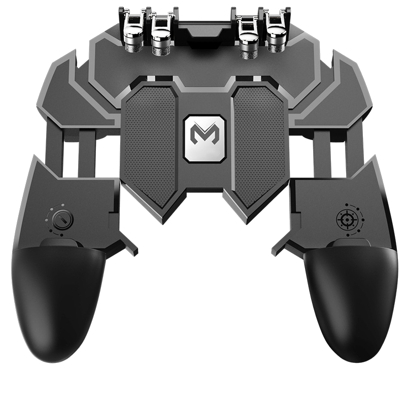PUBG Mobile Phone Dzhostik Six-finger Gaming Trigger Shooter Gamepad L1R1 Controller Game Fire Button For IPhone Honor Android