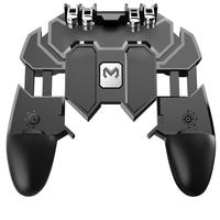PUBG cellulare Dzhostik gioco a sei dita Trigger sparatutto Gamepad L1R1 Controller gioco pulsante di fuoco per iPhone Honor Android