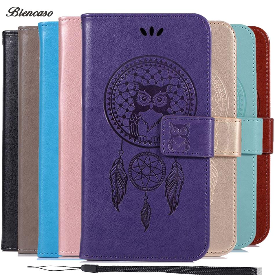 Biencaso Owl Wallet Flip Case For Motorola Moto C 2017 G4 G5 G5S E4 E5 G6 Plus 2018 Z Z2 Z3 Play PU Leather Silicone Fundas B183