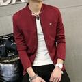 Revestimento do Revestimento dos homens 2016 Marca de Moda Mens Jaquetas E Casacos Slim Fit Zipper Jaqueta de Beisebol Jaqueta Yeezy Casacos Veste Homme
