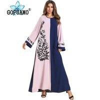 Abaya Kimono Dubai Turkey Bangladesh Islamic Clothing Plus Size Kaftan Arabic Embroidery Abayas For Women Maxi Muslim Dress 2019