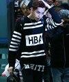 Kpop 2016 новые модели с КРИС HBA осень длинным рукавом bts письма k-pop Bigbang Хип-Хоп кофты майки Outerwears