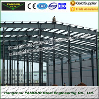 Pre engineered steel structure building for storage warehouse