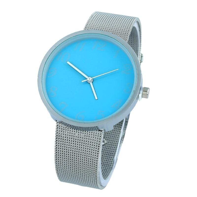 Gnova Platinum Top Fashion Metal Watch Women Silvered band soft colors dial Geneva style wristwatch Quartz Office Girl