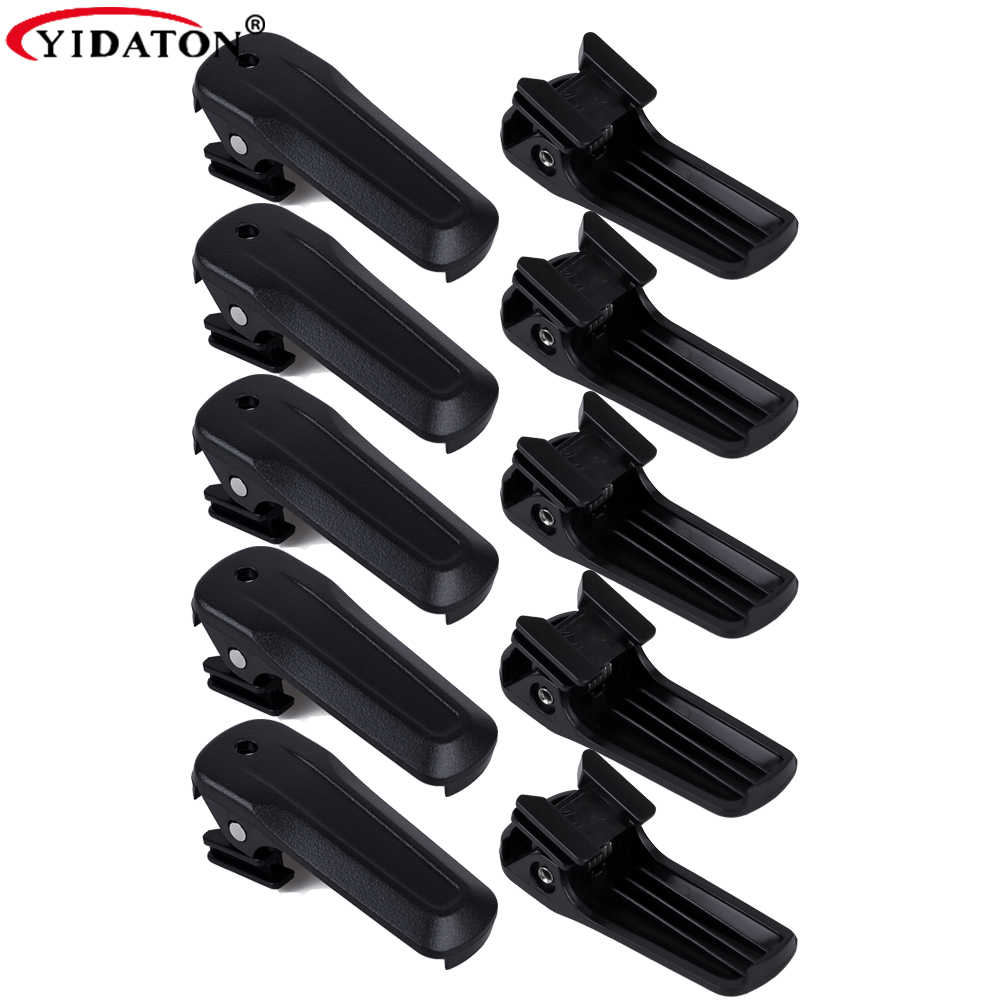 10 pcs Battery Belt Clip for Kenwood TK-U100 TK-3000M TH-K20A TK-2000T Radio Black Color Battery Belt Back Clip