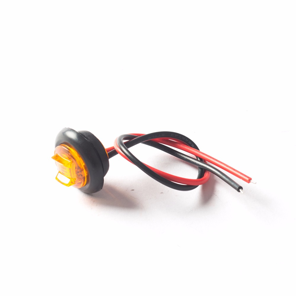 10pcs 07 Mini Waterproof Led Side Marker Lights Truck Trailer Wiring Clearance Lamp Red White Amber Auto With Grommet In Car Light Assembly From