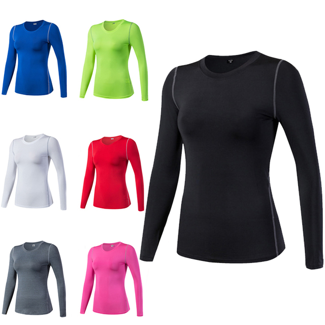9e0c87a6 Women's Quick Dry Compression Tights Wear Fitness Exercise Training Sports  Running Yoga Workout Long Sleeve Gym