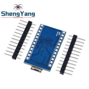 Image 3 - Pro Micro ATmega32U4 5V 16MHz Replace ATmega328 For Arduino Pro Mini With 2 Row Pin Header For Leonardo Mini Usb Interface