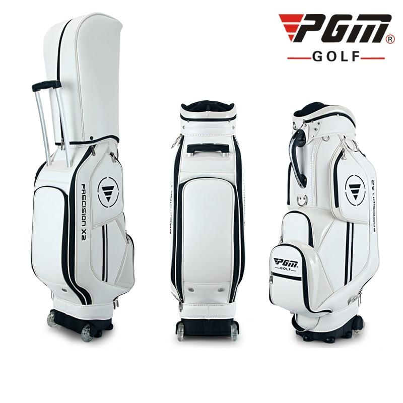 PGM Golf travel bag wheels stand caddy airbag flight aviation aircraft high capacity golf cart bag staff golf bags Labor saving