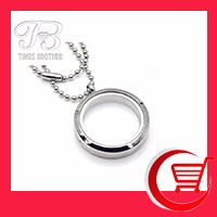 20mm25mm30mm Magnetic Closure 316L stainless steel Round Floating Memory Locket Pendant