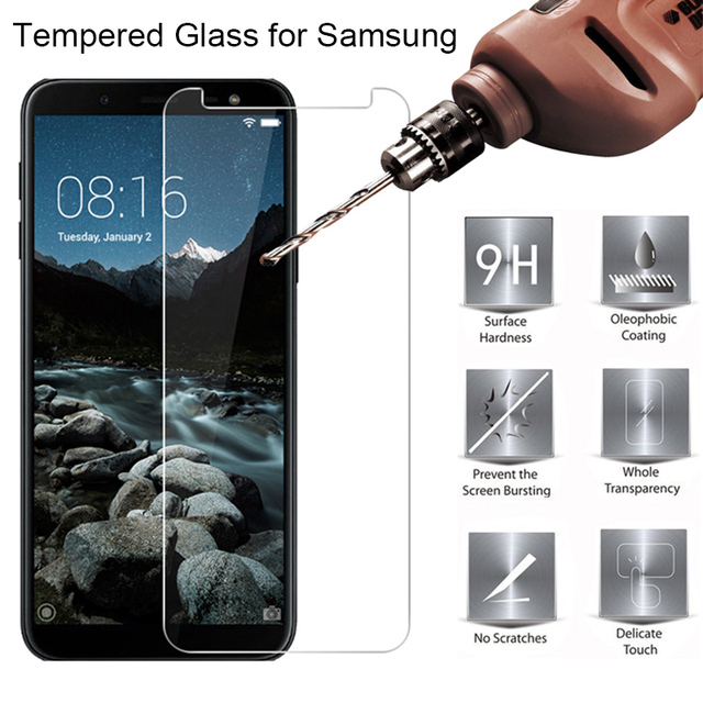Tempered Glass for Samsung J6 Plus Protective Glass for Samsung J4 J8 2018 Phone Screen Protector Film for Galaxy Note 2 3 4 5 7