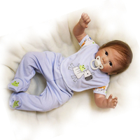 Lifelike Newborn Baby 22'' Safe Realistic Baby Doll Soft Silicone Touch Real Reborn Baby Doll Kits Toy Birthday Christmas Gifts