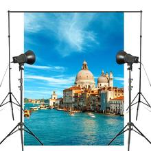 150x220cm Blue Sky Aquatic-city Photography Background Venetian Paradise Backdrop Lanscape Theme Studio Props Wall