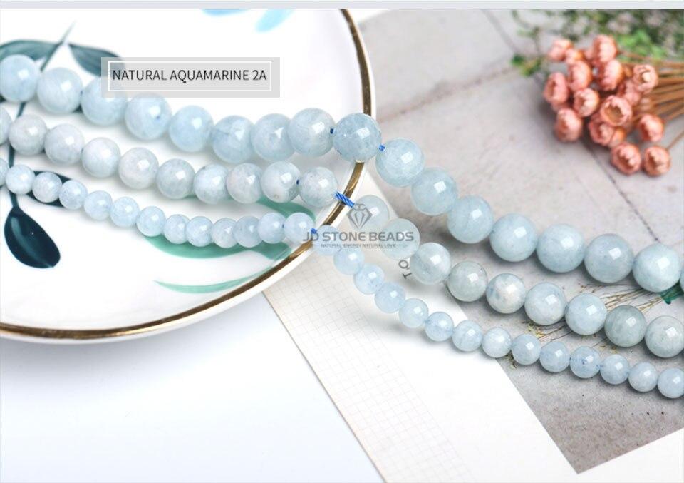 HTB1HAeTXtjvK1RjSspiq6AEqXXae 4 6 8 10 12 mm Natural Aquamarine loose Beads Free Shipping Faceted Blue Pick Szie  DIY Accessory Gemstone For Jewelry Making