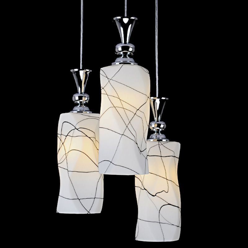 Creative 3 Lights Twisted Glass Dining Room Pendant Light Fashion Kitchen Pendant Lamp Bar Cafe Pendant Lamps free shipping 3 lights dining room glass pendant light tready wine cup crystal pendant lamp led lamps bar kitchen glass light