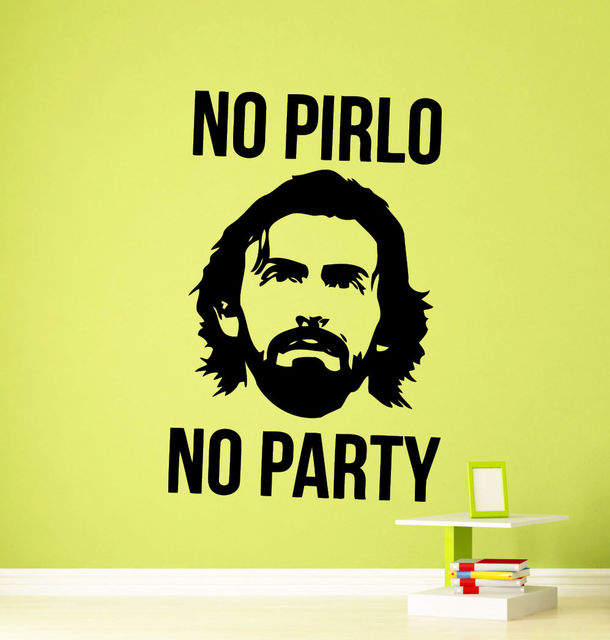 Andrea Pirlo Wall Sticker Famous Football Player Vinyl Decal Home ...