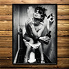 Canvas Painting Toilet Bar Home Decor Wall Art by Rebe Home