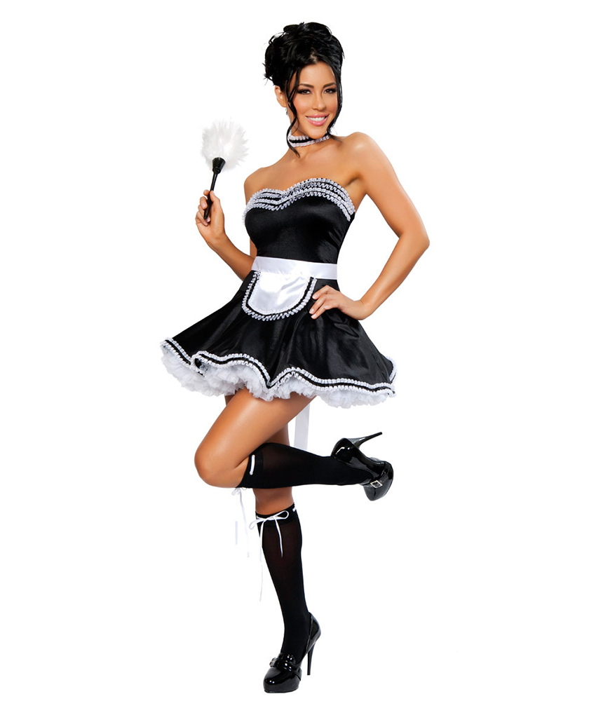 Sexy French Maid Waitress Wench Halloween Outfit Cosplay Fancy Dress  Costume on Aliexpress.com | Alibaba Group