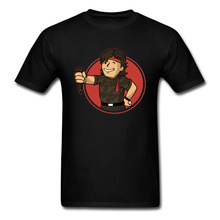 2019 Men T-shirt Vault Boy Gesture Tshirt Printed Fallout Tops Gamer 4 100% Cotton Student Military FROG BOY T Shirt