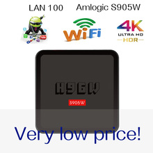 Xinways  H96W Amlogic S905W h96 tv box smart tv box android 7.1 os Android tv box  1GB RAM 8GB ROM 2.4G WIFI low price