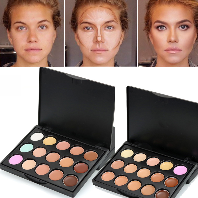 2019 Popfeel Brand Makeup Color Corrector Full Cover Corretive Long Lasting Face Contouring Makeup 15 Colors Concealer Palette image