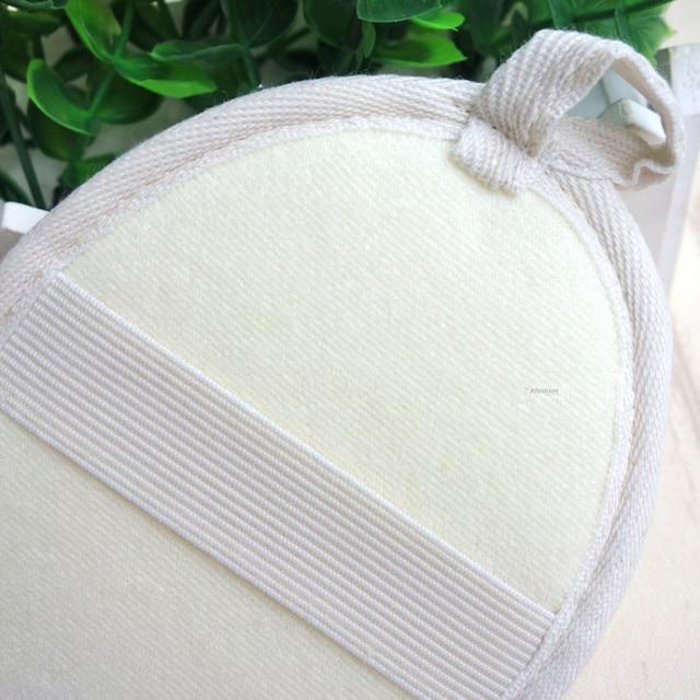 1pc nature loofah sponge soft band strip massage brush skin body bathing washing exfoliating accessories 2