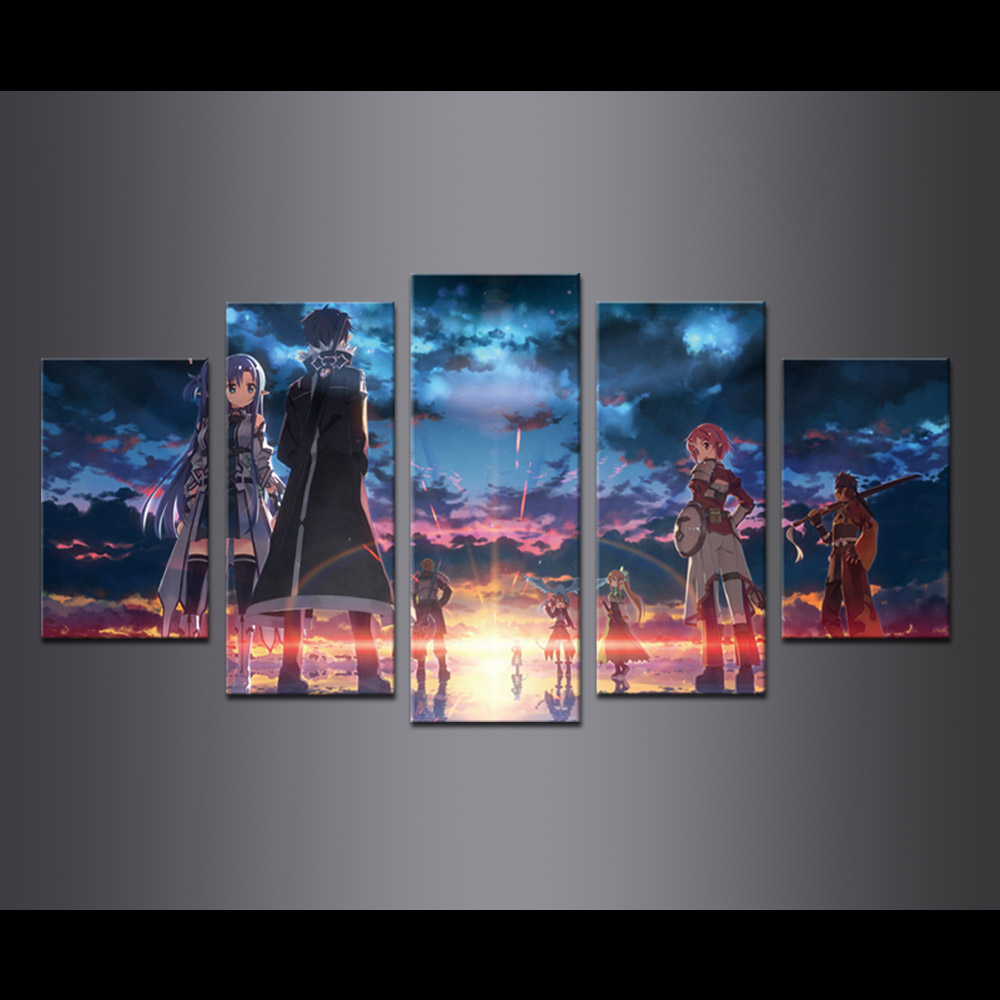 Unframed Canvas Painting Animation Character Poster Giclee Modular Picture Prints Pictures For Living Room Wall Art Decoration